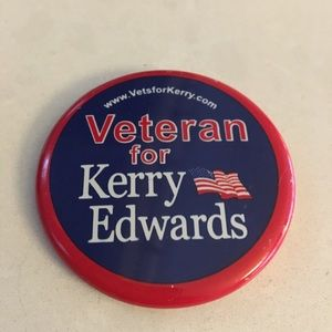 KERRY EDWARDS Campaign Pin